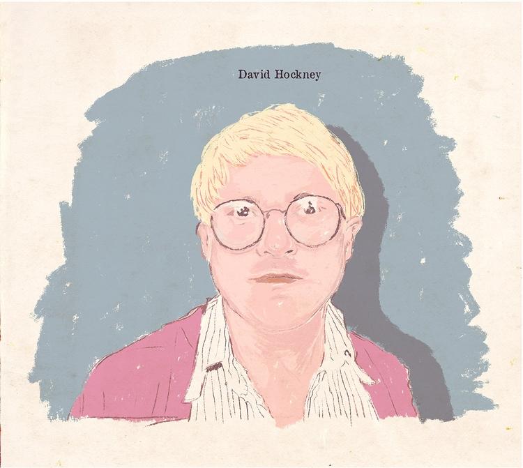David Hockney - illustration, davidhockney - zoe_vadim | ello