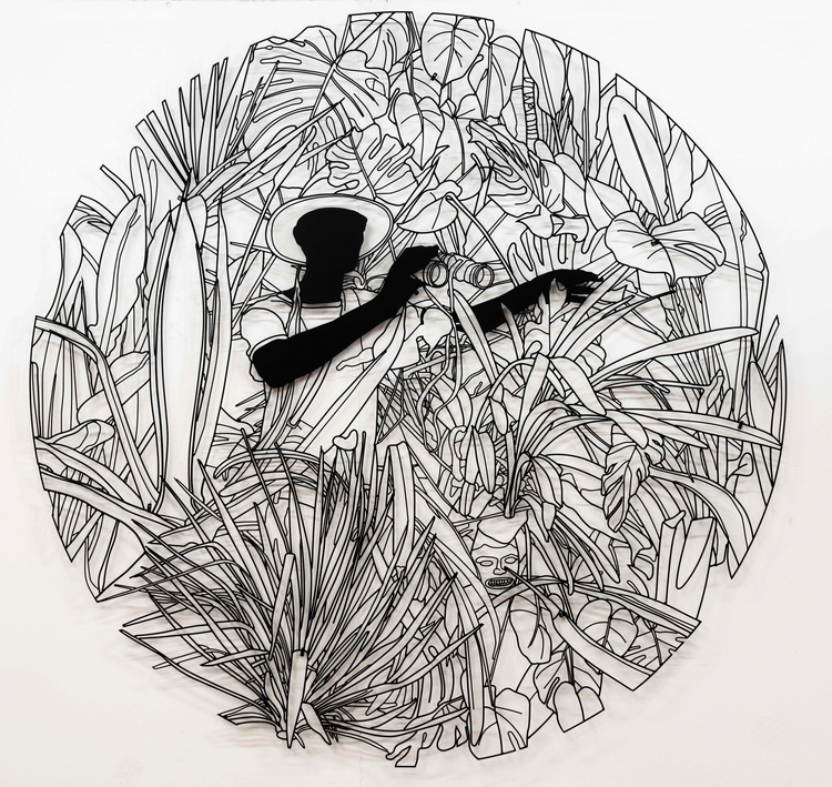 jungle 190cm 190cm, painted ste - hierroglyphic | ello