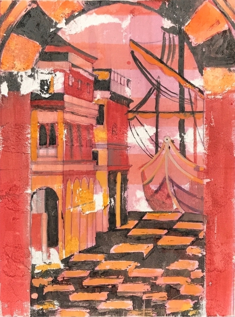 watercolor, penandink, illustration - whitneysanford | ello