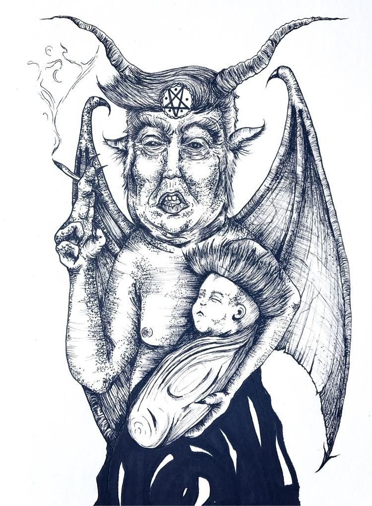 micron ink - micronpen, art, drawing - morelsinvention | ello