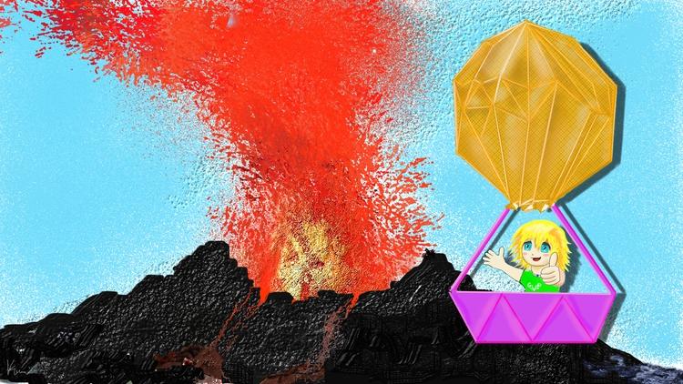 Eruption mountain Beware - kamuikurosawa | ello