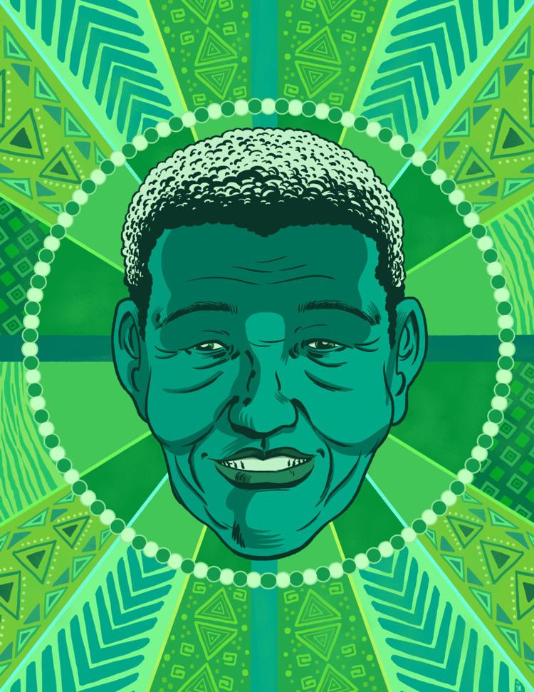 Nelson Mandela freelance work - art - altsam | ello