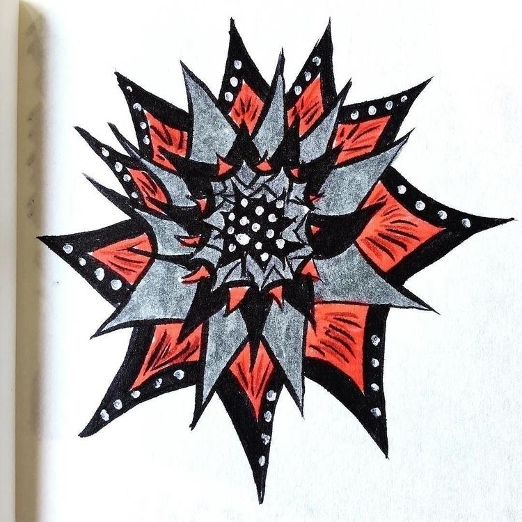 Flower spikes. dots - illustration - borianag | ello