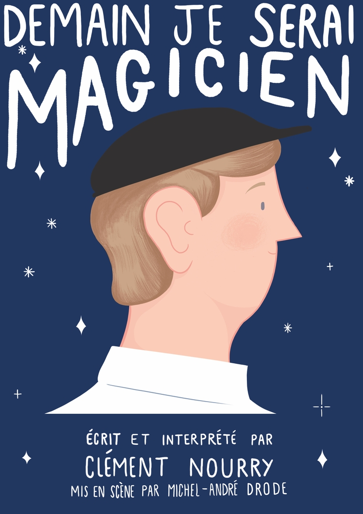 poster french magician Clement  - mikedriver | ello