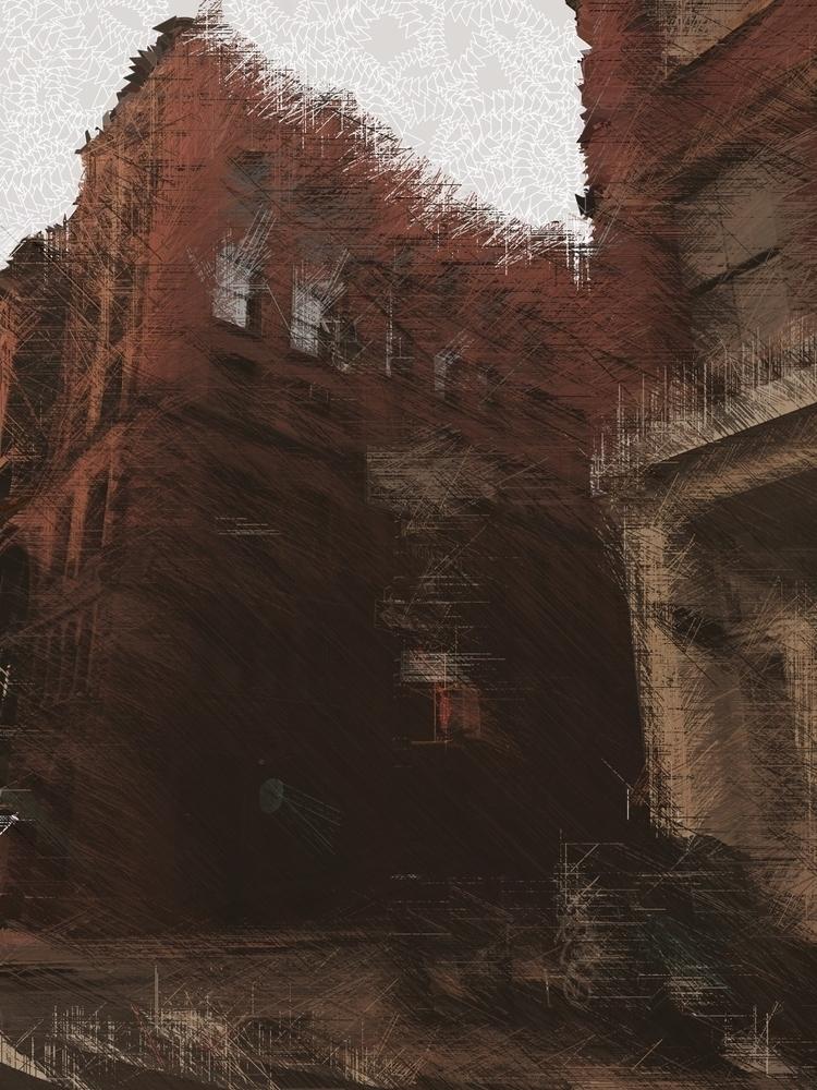 Losing York - textures, glitchart - alexandrascotch | ello