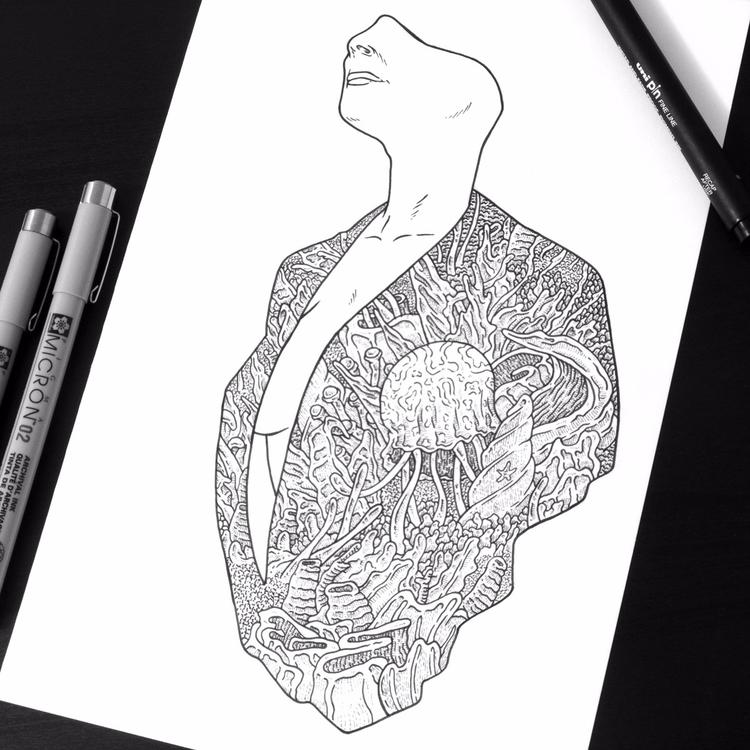 Alive. Work progress - illustration - jferreirastudio | ello