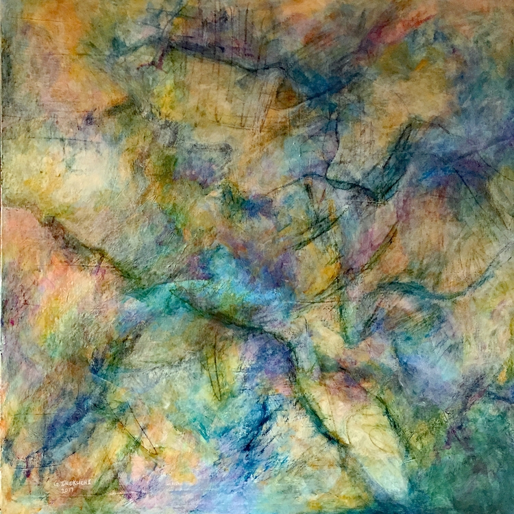 Blue Ridge Mixed Media 40 - painting - geralyninokuchi | ello