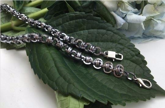 bracelet gun metal aluminum jum - kettenglied | ello