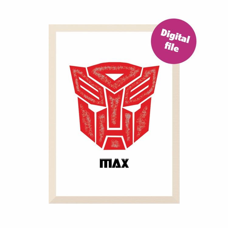 Print PERSONALISED Transformers - galleryydesigns   ello