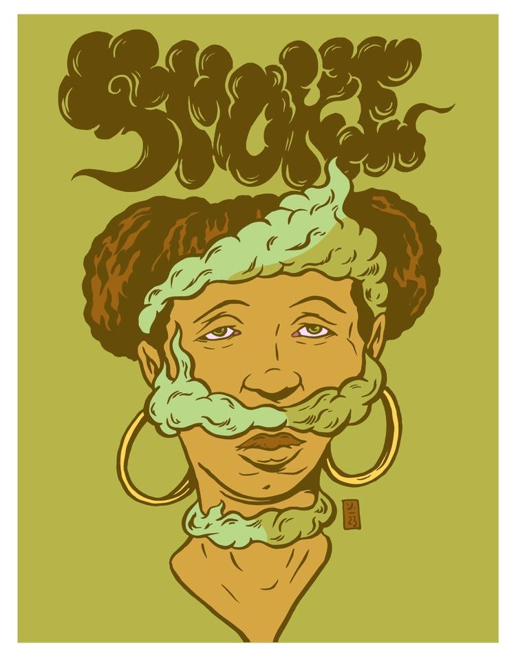 Full Smoke - illustration - thomcat23 | ello