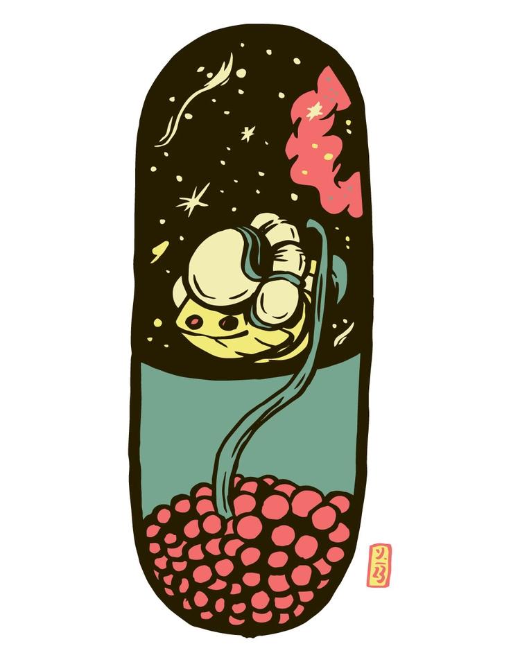 Space Pill - illustration - thomcat23 | ello
