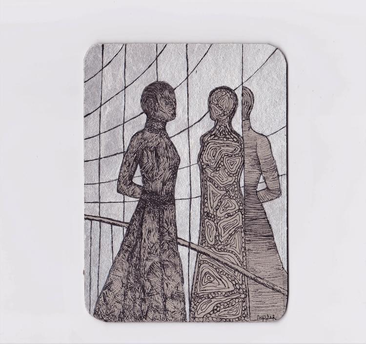 smoke mirrors (acrylic ink) (20 - ayesharawal | ello