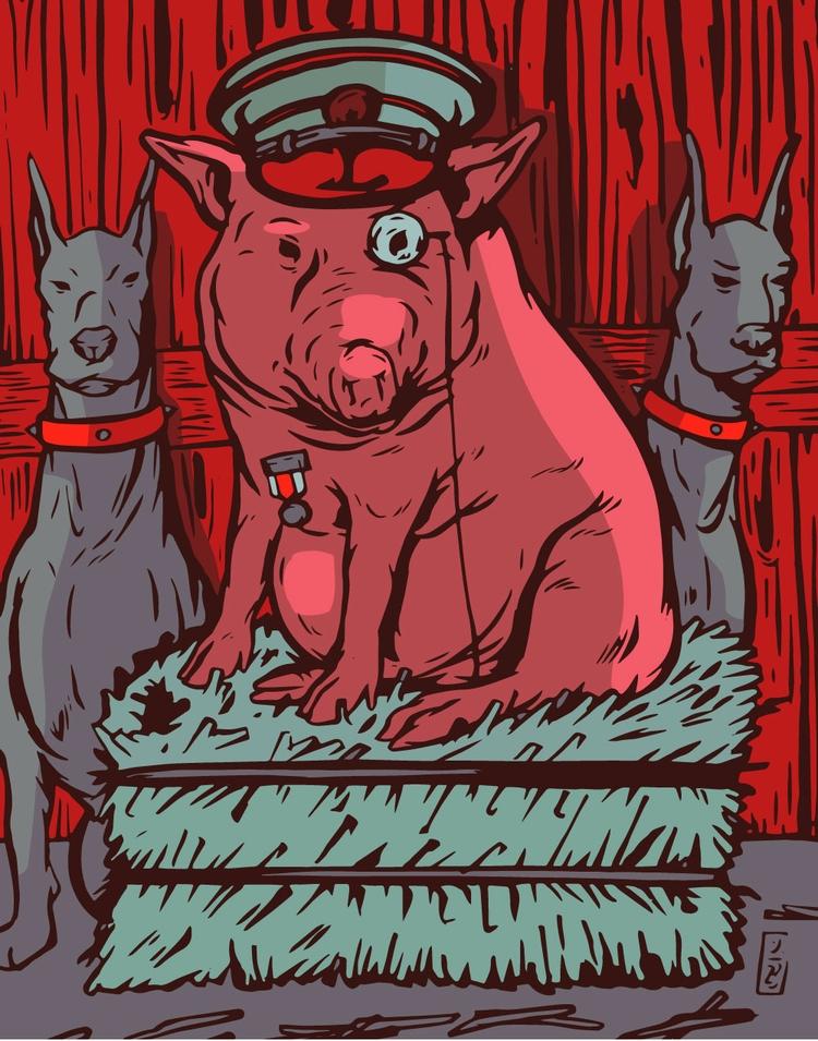 Animal Farm - illustration - thomcat23 | ello