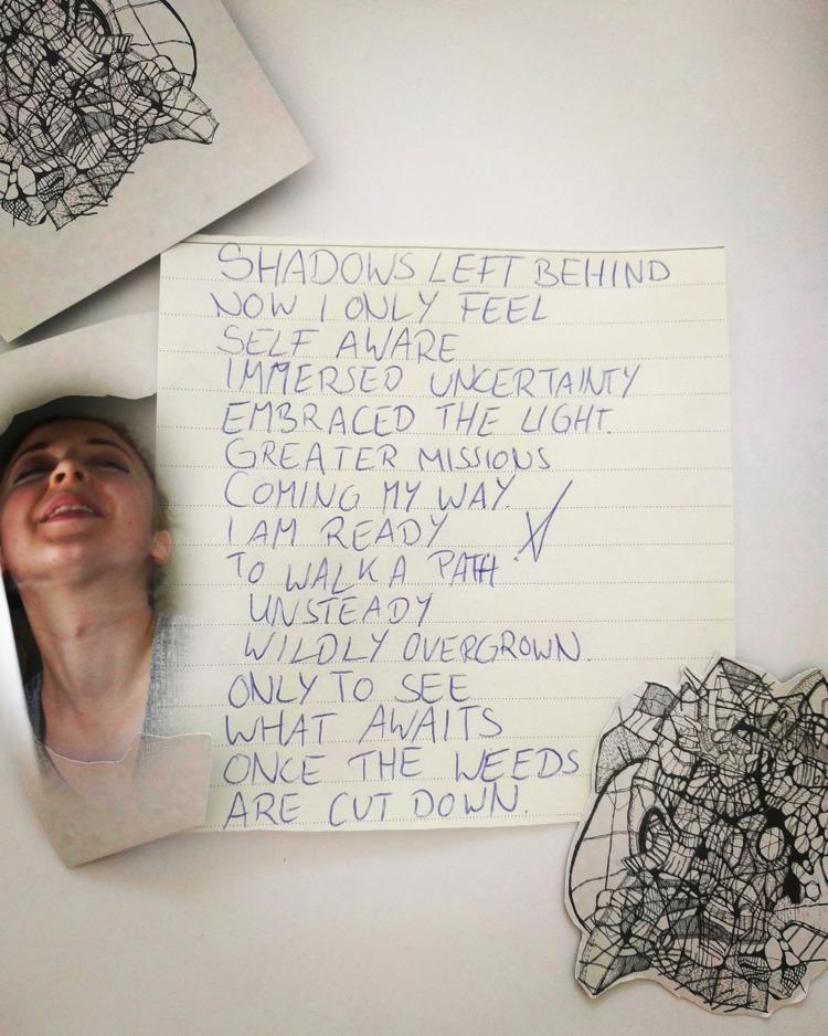 SHADOWS  - writing, collage, vispo - victoriainthewoods | ello