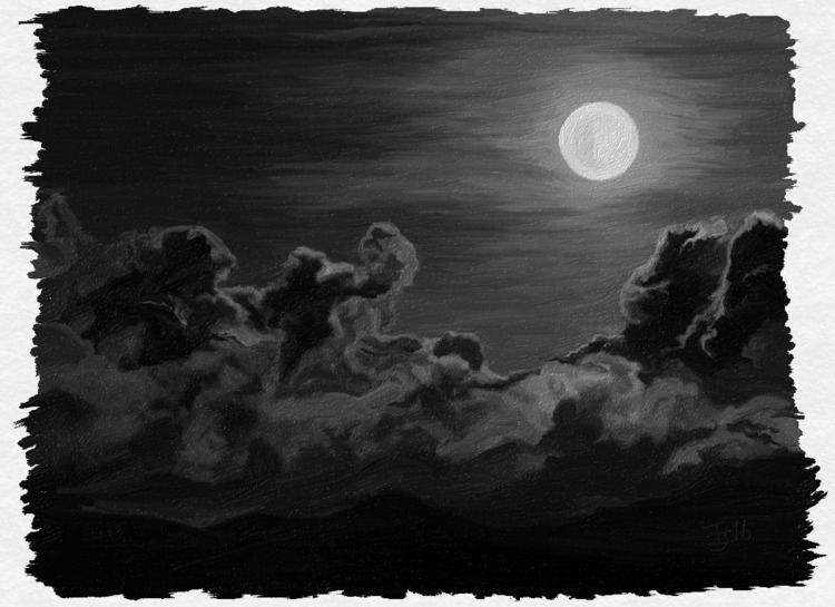 digital oils greyscale - astridthecrafty | ello