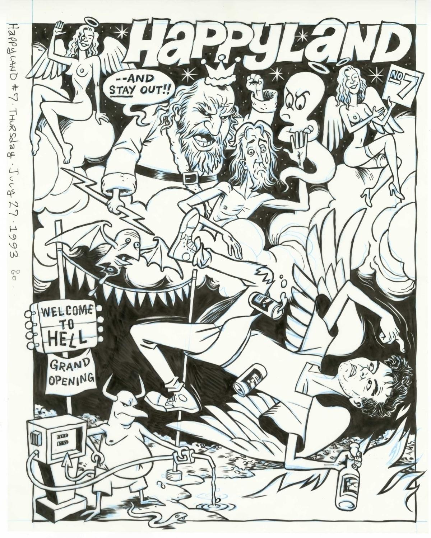 FLAT FILES, 1993: cover art HAP - dannyhellman | ello