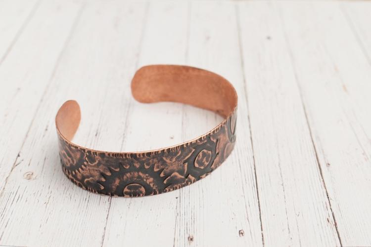 cuff bracelet - steampunk, copper - dorotavl | ello