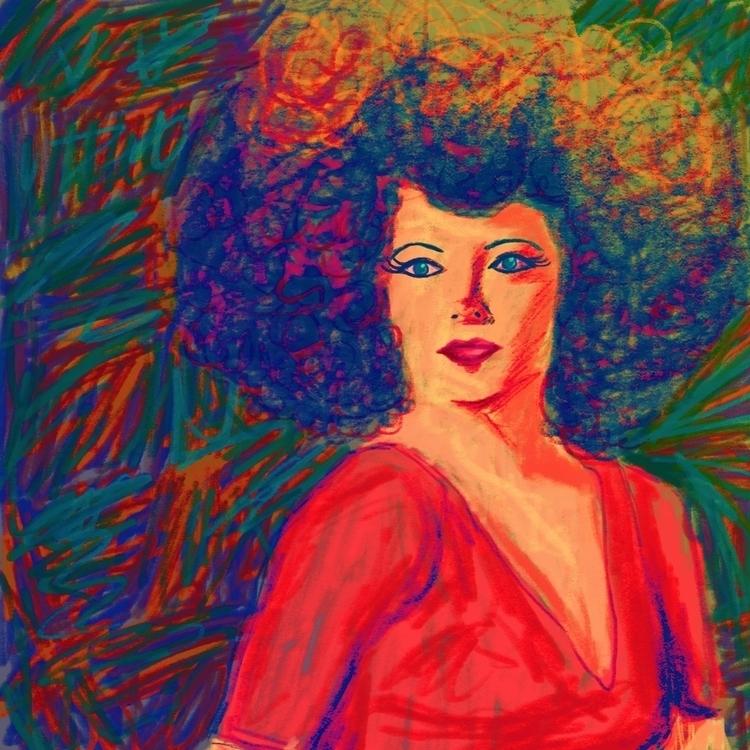 Retrato con simulación de crayó - spranksgt | ello