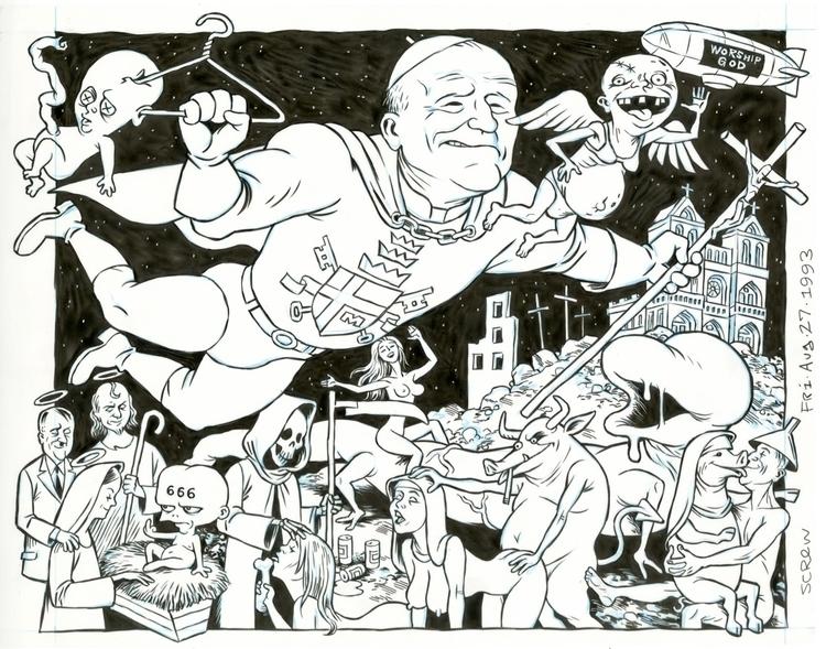 FLAT FILES, 1993: Pope Man cove - dannyhellman | ello