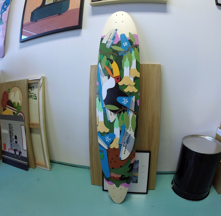 Hand painted longboard Swiss co - chrisversteeg | ello