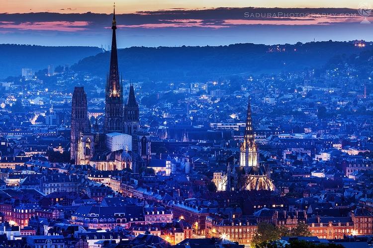 Panorama Rouen sunset Rouen, No - hsphotos | ello