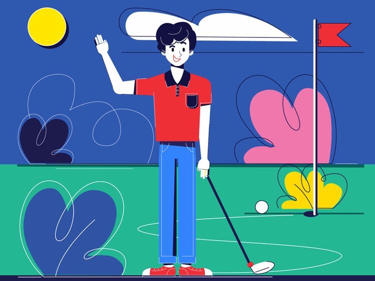 Golf fun  - Renderforest, animation - renderforest | ello