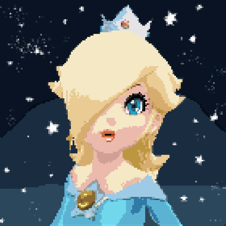Pixel Art Rosalina, Princess Co - mistergrim23 | ello