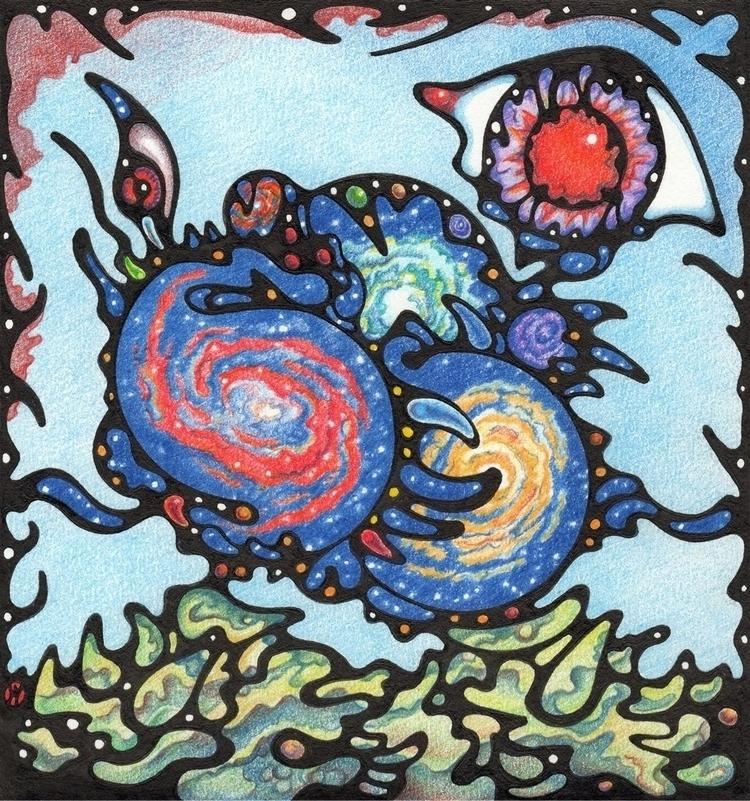 Chaotic Galaxy Plants watchful  - winnman | ello