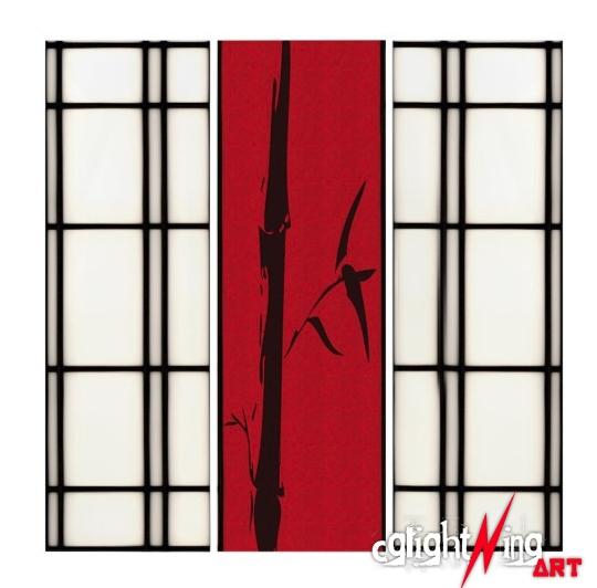 Shoji - Bamboo Triptych created - cglightningart   ello