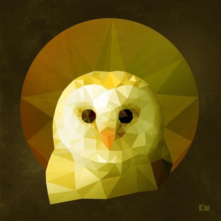 Owl - bird, owl, polygon, illustration - kenazmedia | ello