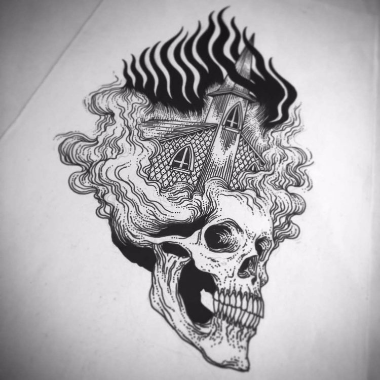 Ecclesia incendii eius - burning - leonardofrey | ello