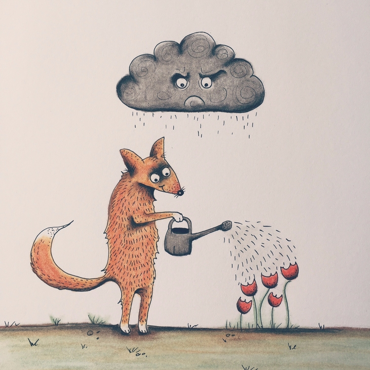 Angry Cloud :copyright:2017 Fem - femkemuntz | ello