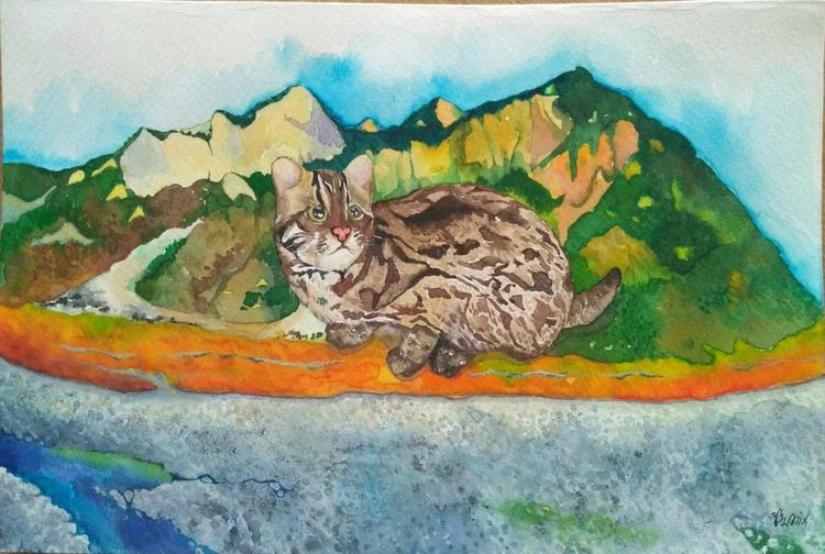 Leopard Cat. work - allieyiling   ello