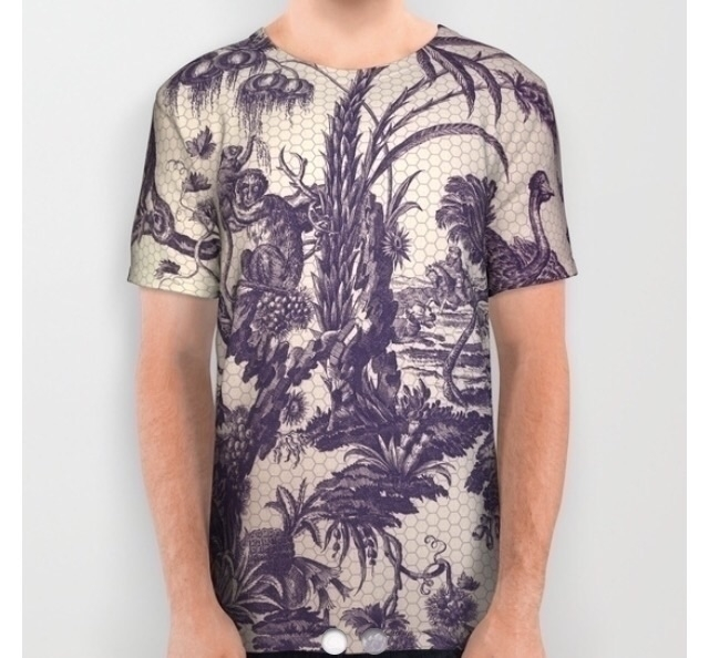 Tropical printed - tshirt, tee, tropical - trinkl | ello