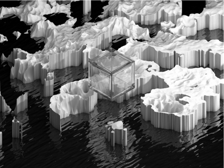 Cubed. messing procedural displ - mographmartin | ello
