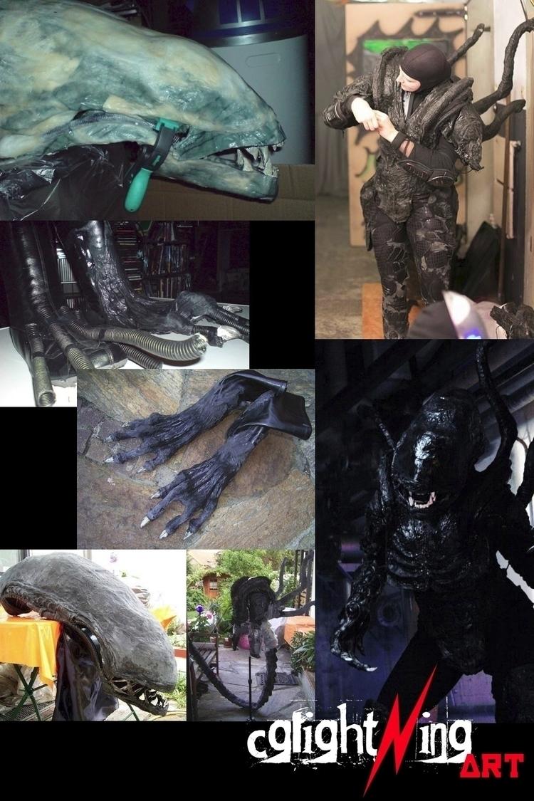 creating Alien-Costume IR-Camer - cglightningart | ello