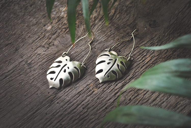 ellojewelry, monsteraearrings - twistedjewelry | ello