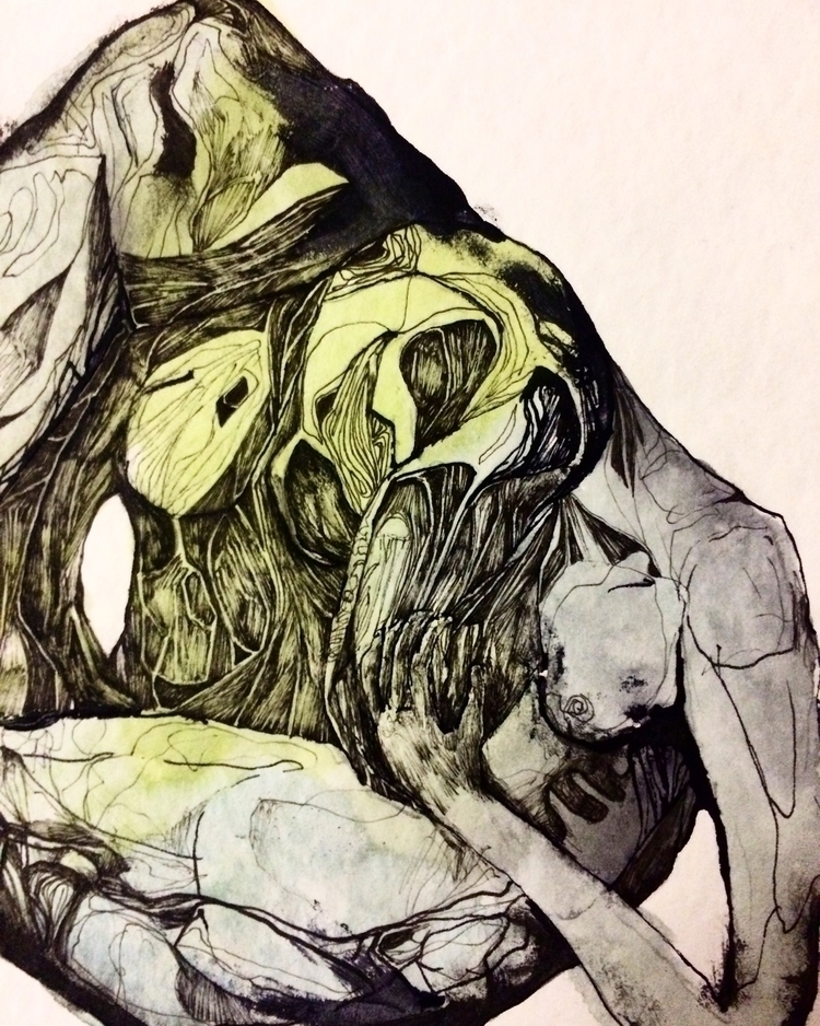 Title: Mixed Messages sketch - art - jacobbayneartist | ello