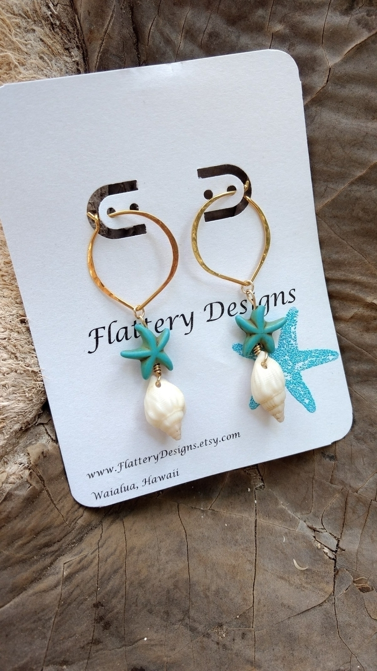Pretty Hawaiian Shell Earrings - flatterydesigns | ello