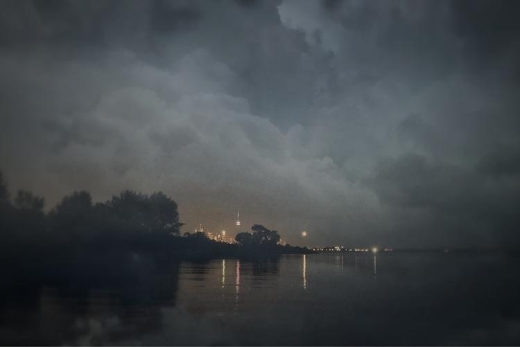 city wrapped light, glowing emb - jamesanok | ello
