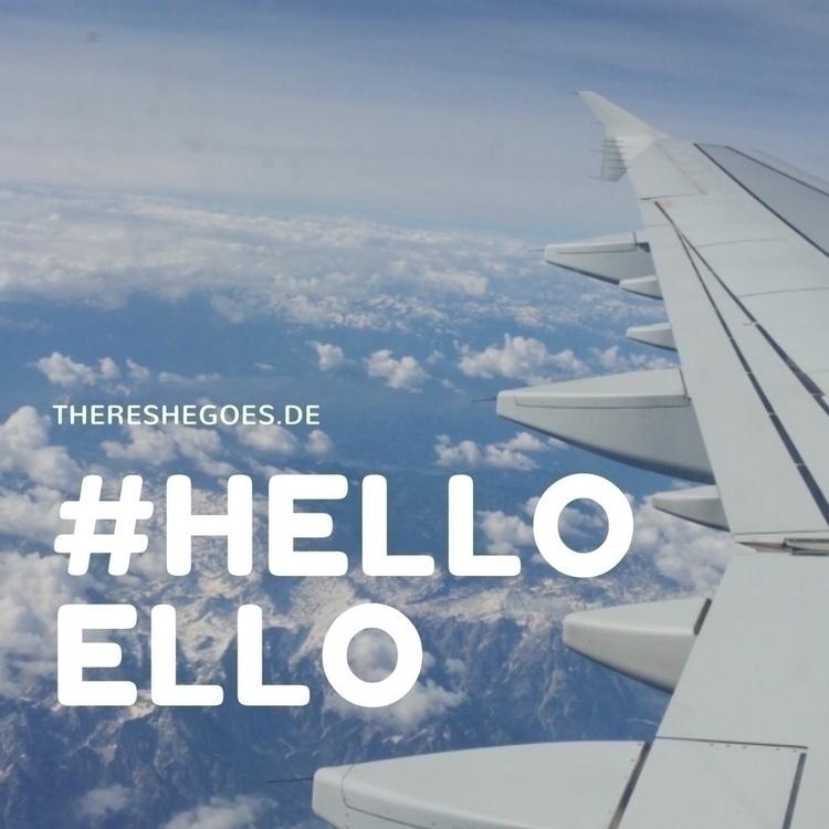 Ello Fellows!  - helloello, thereshegoes - thereshegoesnow | ello