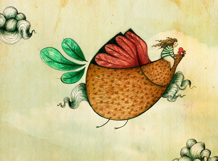 chicken, flow, illustration - sonjastangl | ello