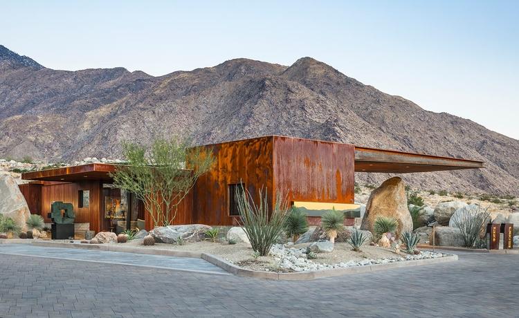 Desert Palisades Guard House St - elloarchitecture | ello