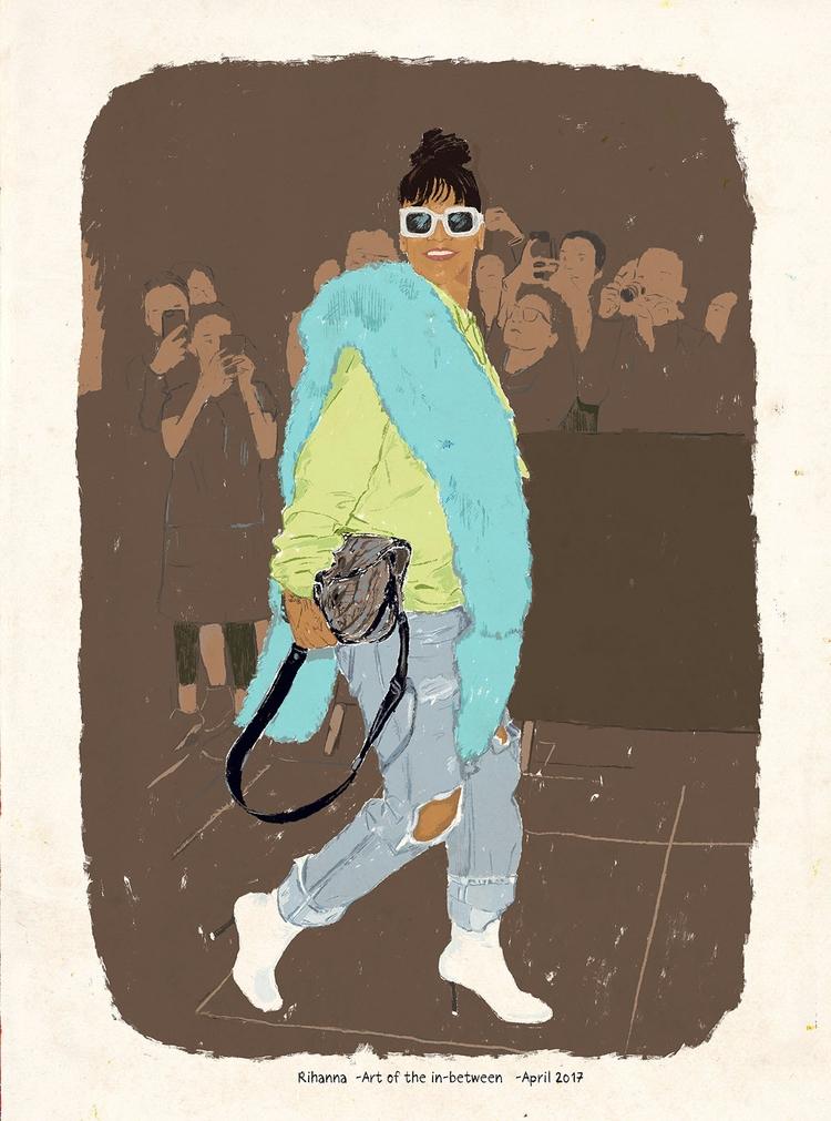 Rihanna - illustration, drawing - zoe_vadim | ello