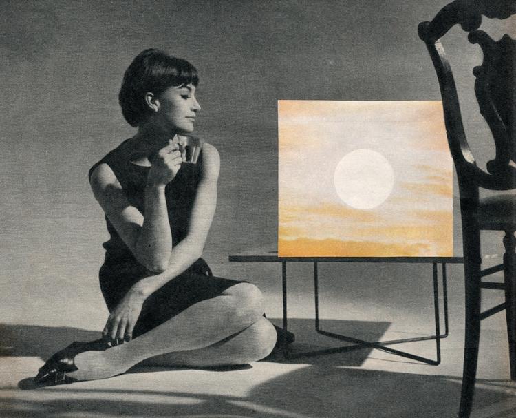 Coucher de soleil - 26x21 cm Pa - claire_martine_   ello
