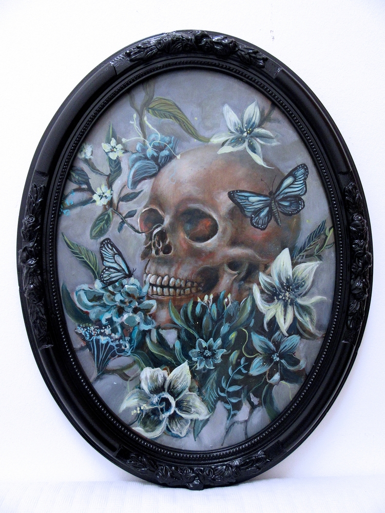 Rebirthing Oil wood - skull, dark - ingridtusell | ello