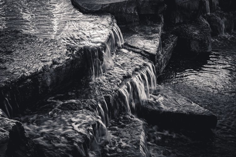 Spilling Water flows rocks Hall - mattgharvey | ello