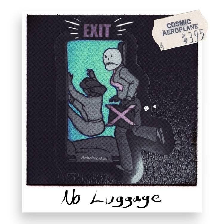 sticker. luggage. Surreal life - arbel420aka | ello
