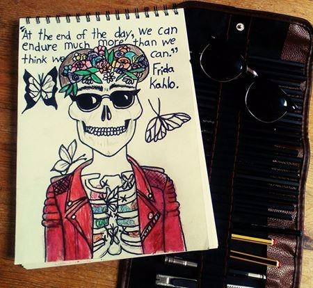 homage favourite artist Frida K - ruthohaganartist | ello