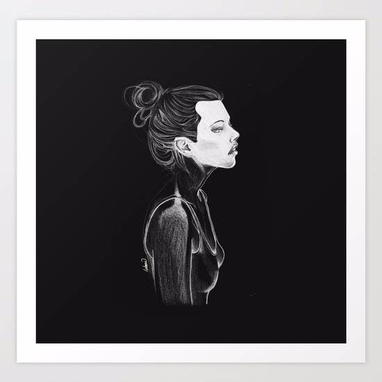 Dark Girl / Hand Drawing ART PR - lostanaw | ello
